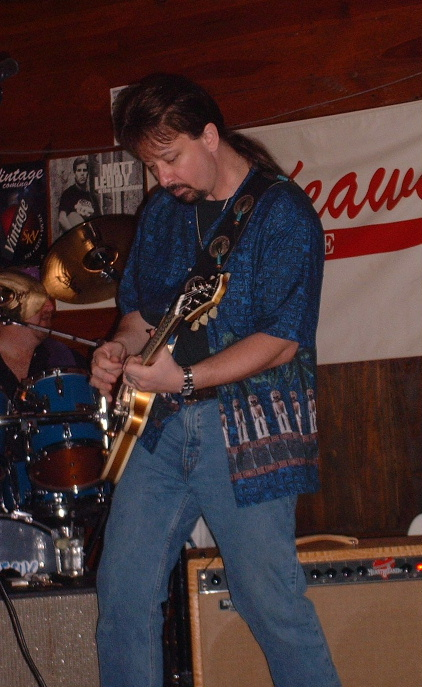 Mark May on stage 